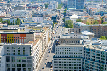 Cityscape - aerial view of Berlin city - business district
