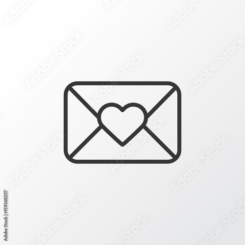 Close Envelope Icon Symbol Premium Quality Isolated Celebration