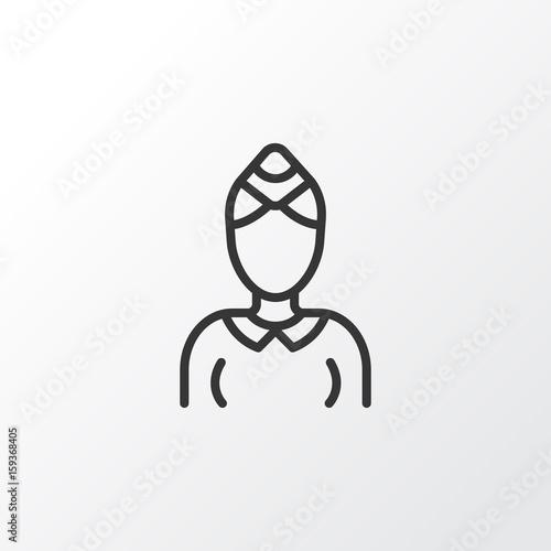 Stewardess Icon Symbol Premium Quality Isolated Hostess Element In