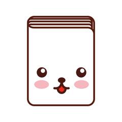 text book kawaii character vector illustration design