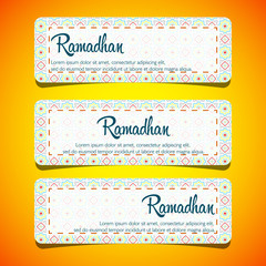 Ramadhan kareem, eid mubarak celebration  illustration greeting card