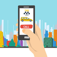 Mobile Call to Taxi Service