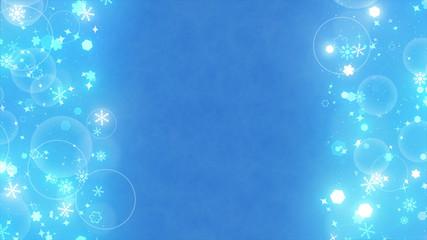 Fototapete - 左右キラキラパーティクル背景 雪結晶