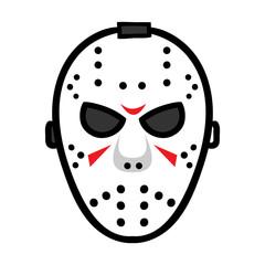 Cartoon Hockey Mask Cartoon Illustration