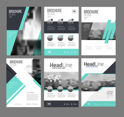1042853 Six trendy brochures templates