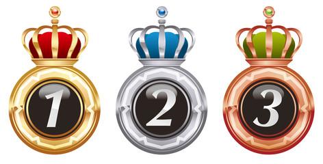 王冠付きメダル