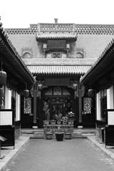 province antique architecture Pingyao building black white