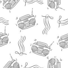 Pattern of radio hand draw