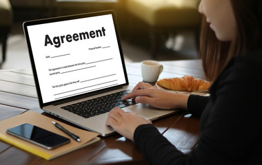 Fototapeta Employment Application Agreement Form ,application for employment