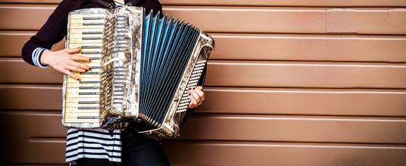 accordion player woman