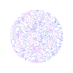 cute flowers shaped in circle