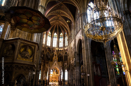 Interior Of The Famous Neo Gothic Votivkirche Votive Church In Vienna Build By