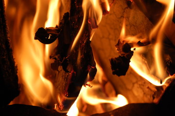 Feuer - brennendes Holz