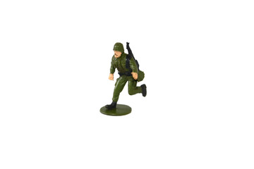 Soidier army with personal gun model isolated with white background