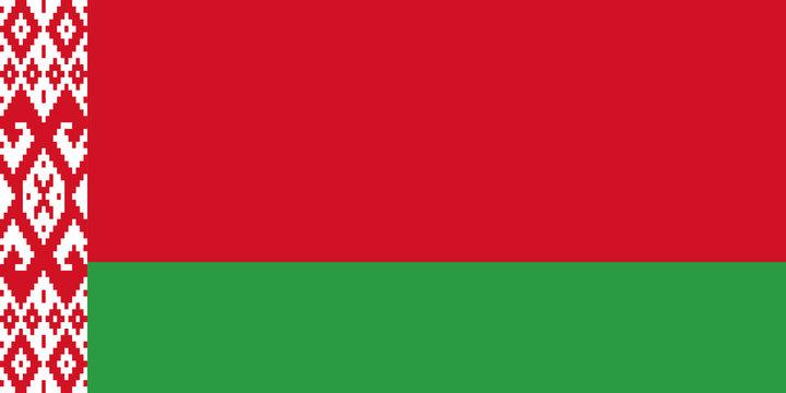 Belarus flag, flat layout, vector illustration