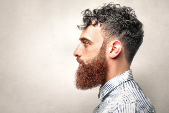 Portrait of an handsome guy with ginger beard