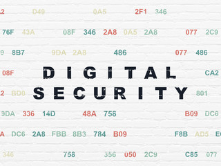 Safety concept: Digital Security on wall background