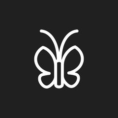 Vector Illustration Of Zoology Symbol On Moth Outline. Premium Quality Isolated Butterfly Element In Trendy Flat Style.