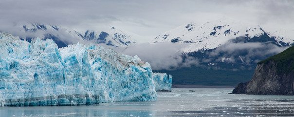 Glacier by Mountains