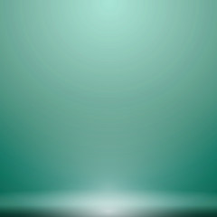 Abstract luxury green gradient with lighting background Studio backdrop, well use as black backdrop, Vector