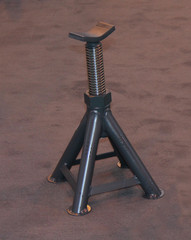 A Threaded Axle Stand to Hold a Car During Maintenance.