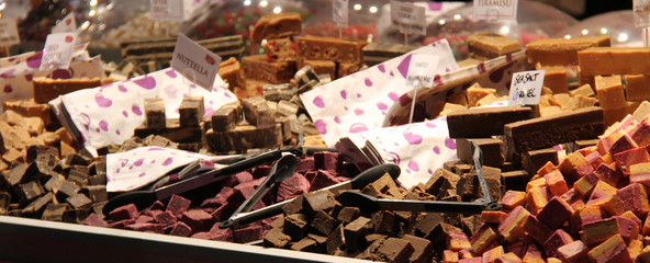 Various Types and Flavours of Sweet Fudge for Sale.