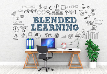 Blended Learning  / Office / Wall / Symbol