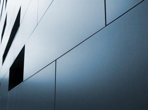 metallic cladding on modern industrial building