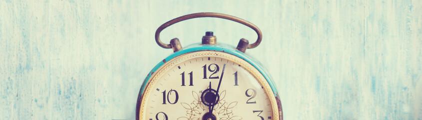 Banner with vintage background - web header template - website design - simple design - vintage alarm clock elements