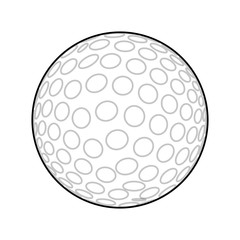 Golf ball isolated icon vector illustration graphic design