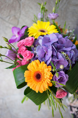 bright sunny summer bouquet for a beautiful girl and a woman, a gift for the holiday