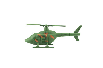 Military helicopter isolated on white background