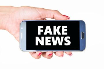Fake News on Smartphone-Display