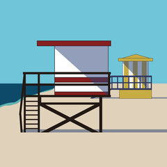 By The Seaside / Beach Huts in a Row
