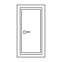 Door   the black color icon .