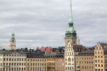 German Church and Building Facades, Old Town; Stockholm