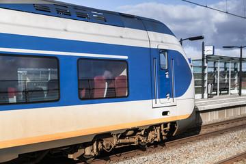 Passenger electric train in Amsterdam