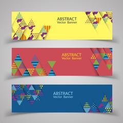 Abstract banner design. Vector illustration.
