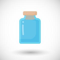 Glass empty jar vector flat icon