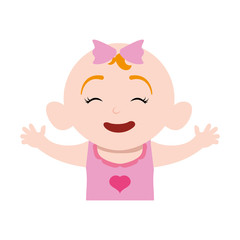Cute baby cartoon icon vector illustration graphic design