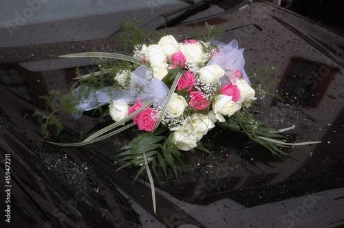 Blumenschmuck Auf Auto Hochzeit Stock Photo And Royalty Free Images
