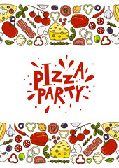 Pizza background for Your design