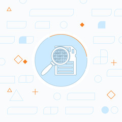 Memory card searching flat icon. Vector illustration.