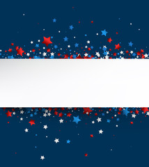 Independence Day background with stars.