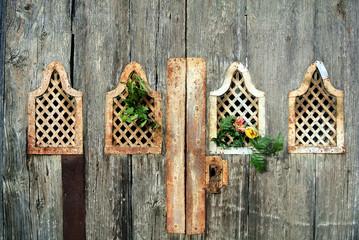 Detail of ancient wooden door