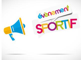 mégaphone : Évènement sportif