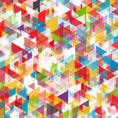 Abstract background of triangles in various shades