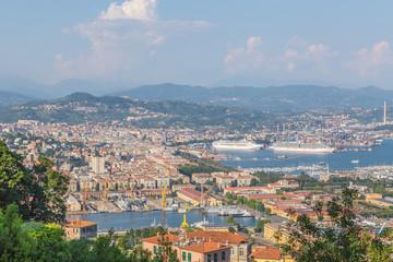 Panoramablick auf La Spezia Ligurien Italien