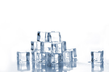 Ice cubes are isolated