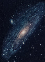 The Andromeda Galaxy is a nearest spiral galaxy to the Milky Way. Elements of this image furnished by NASA.